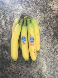 Bananas High in Potassium & Fibre